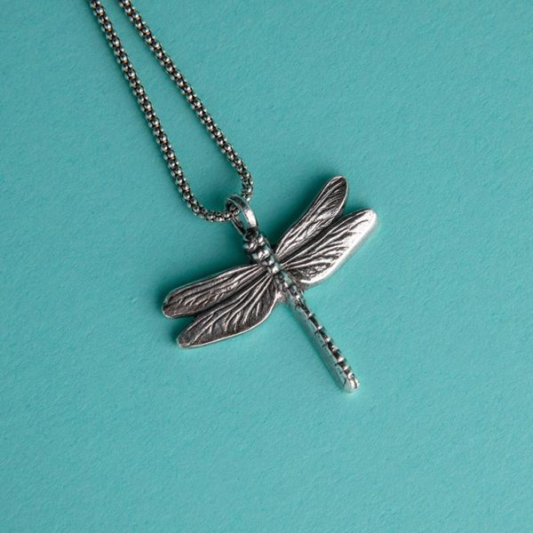 Textured Dragonfly Pendant handmade by Corzo and Wood