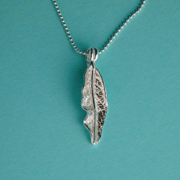 Real Leaf Pendant handmade by Corzo and Wood