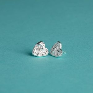 Large Heart Stud Earrings
