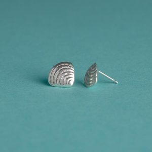 Small Textured Shell Stud Earrings