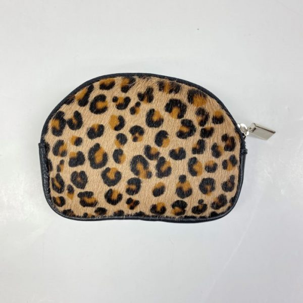 Animal Print Leather Purse Small Leopard