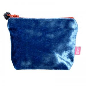 Mini Velvet Purse - Cobalt