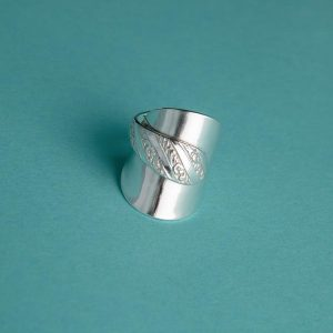 Handmade silver ring made from an antique silver spoon by Corzo & Wood