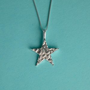 Star Textured Pendant handmade by Corzo and Wood