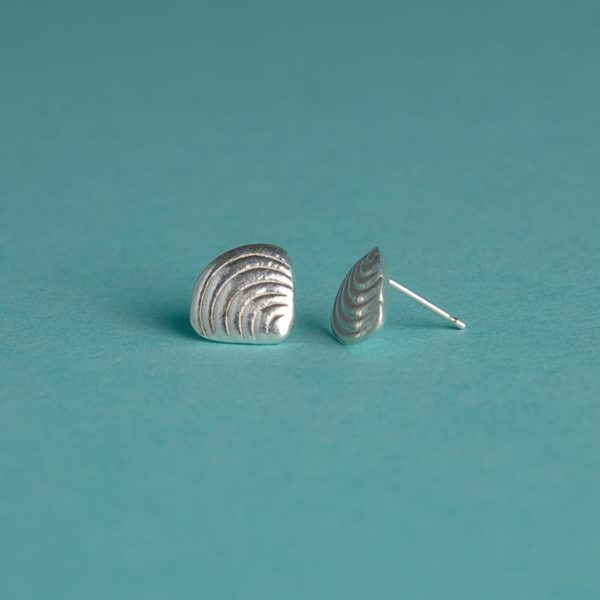 Small Shell Stud Earrings handmade by Corzo and Wood