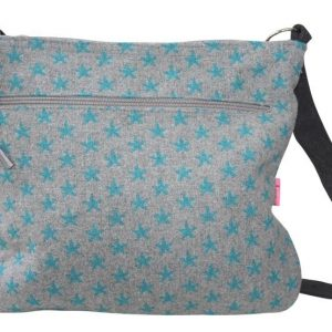 Aqua Star Large Messenger Bag