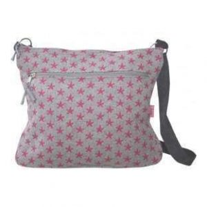 Pink Star Large Messenger Bag