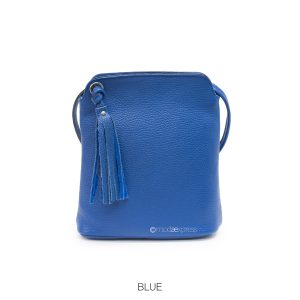 Leather Tassel Cross-body Cobalt Blue
