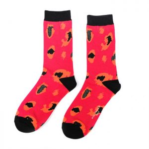 Hot Pink Leopard Print Ankle Socks