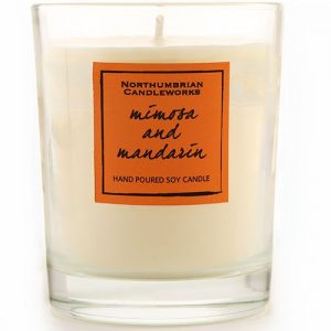 Soy candle in a glass - Mimosa and Mandarin
