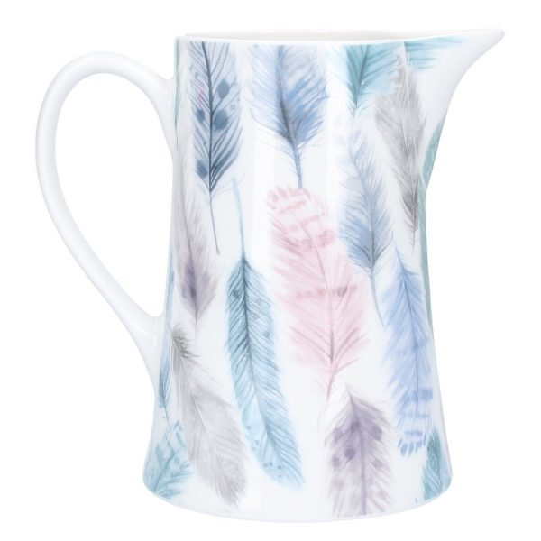 Feathers Print Medium Jug