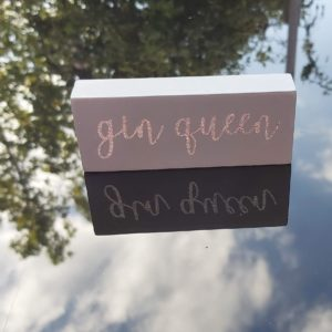 Mini drink quote block - Gin Queen