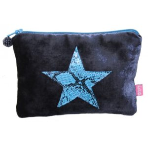 Snakeskin Stair Coin Purse - Blue