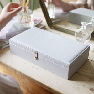 Large Grey Jewellery Box
