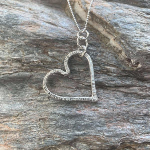 Bark Effect Wire Heart Handmade by Corzo and Wood