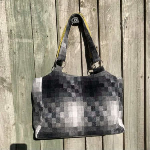 Structured Checked Ombre Shoulder Bag