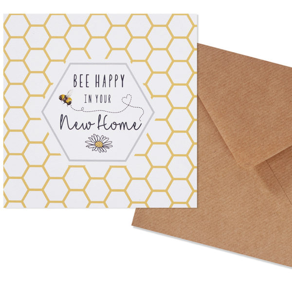 Bee Happy In Your New Home Card
