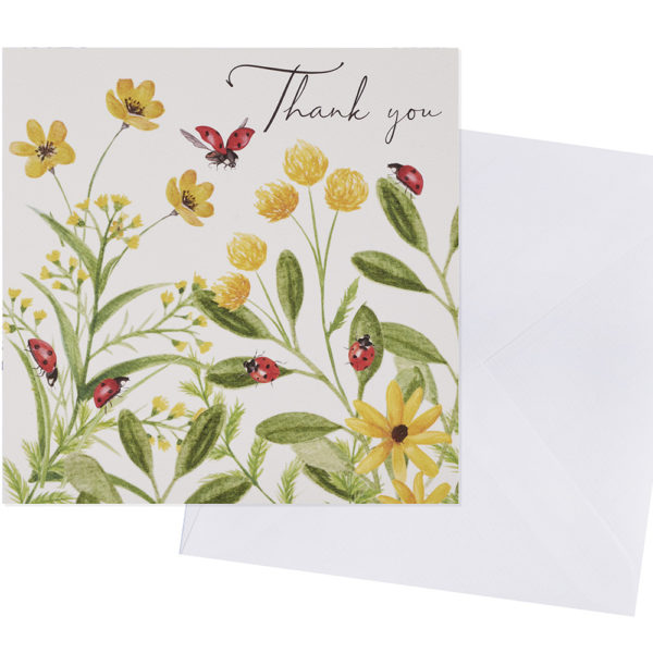 Buttercup and Ladybirds Thank You Card