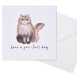 Have a purr-fect day card (posh feline)