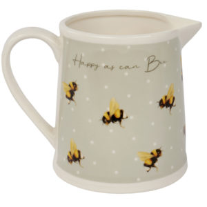 Happy as can bee milk jug