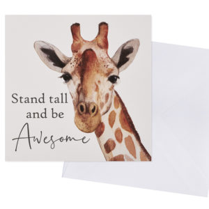 Stand Tall and Be Awesome Card