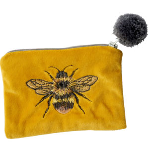 Bee purse with pom pom