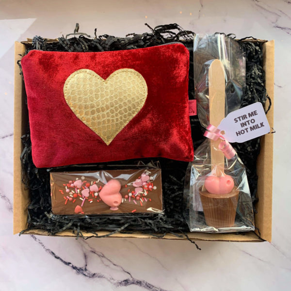 Indulgence Red Heart Gift Box by Corzo and Wood