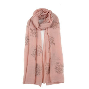 Tree Print Scarf with Glitter in Dusty Pink - Corzo and Wood