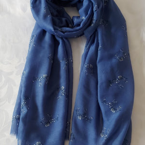 Blue Zebra Print Scarf - Corzo and Wood
