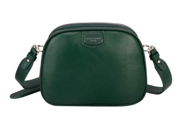 Dark Green Triple Zip Crossbody Bag by David Jones - Corzo and Wood
