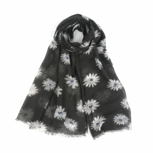 Large Daisy Print Scarf - Corzo and Wood
