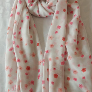 Pink Floral Scarf - Corzo and Wood