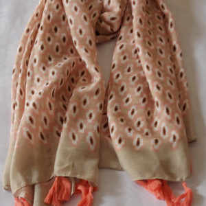 Pink Tassel Scarf - Corzo and Wood