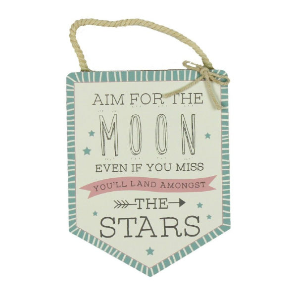 Aim For the Moon Wall Hanging - Sold by Corzo and Wood