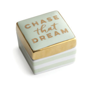Chase That Dream Porcelain Box