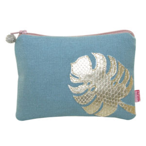 Coin Purse with a faux gold leaf applique