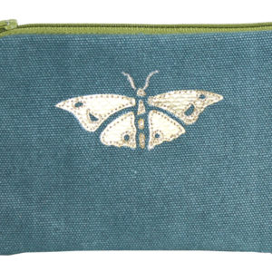 Gold Applique Butterfly Coin Purse - Teal - Sold by Corzo and Wood