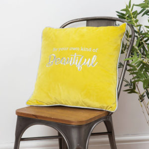 Own Kind Of Beautiful Velvet Cushion - sold by Corzo and Wood