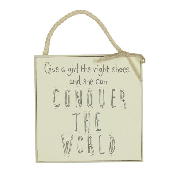 The Right Shoes Wall Hanging - Sold by Corzo and Wood