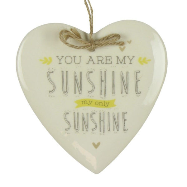 You Are My Sunshine Ceramic Hanging - Sold by Corzo and Wood